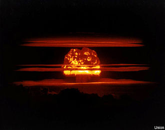 Condensation cloud - Mushroom cloud with multiple condensation rings from the Castle Union 6.9 Mt hydrogen bomb test