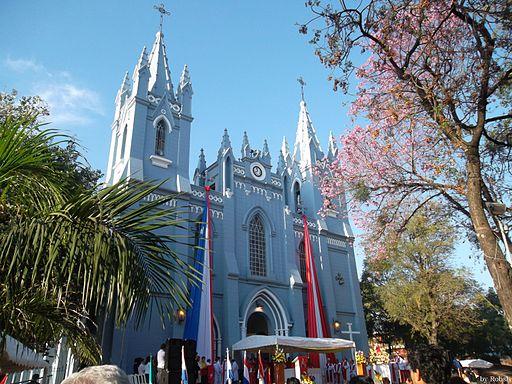 Catedral de San Lorenzo durante un 10 de Agosto