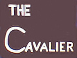 "Cavalier (N&W train) - ""Drumhead"" logos such as this often adorned the ends of observation cars on the Cavalier."