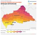 Central-African-Republic PVOUT Photovoltaic-power-potential-map lang-FR GlobalSolarAtlas World-Bank-Esmap-Solargis.png