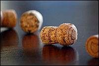 Corks from bottles of Champagne