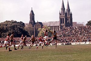 Hawthorn Football Club - Hawthorn playing North Adelaide in the 1971 Championship of Australia final.