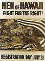 Charles W. Bartlett - 'Men of Hawaii Fight for the Right, WWI recruting poster, 1917, private collection.jpg
