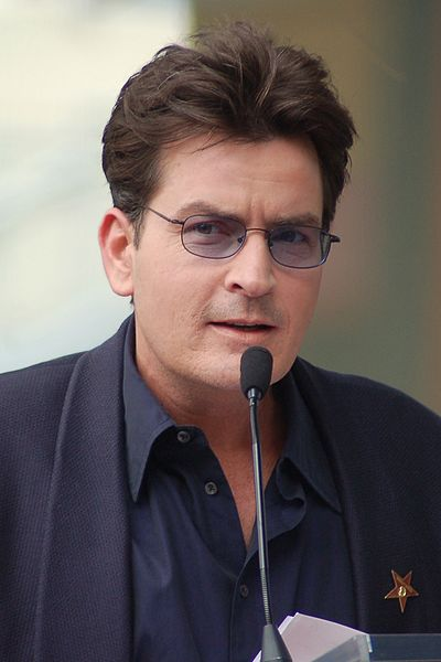 Charlie Sheen, American film and television actor