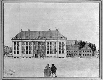 Charlottenborg Palace - Charlottenborg in 1742