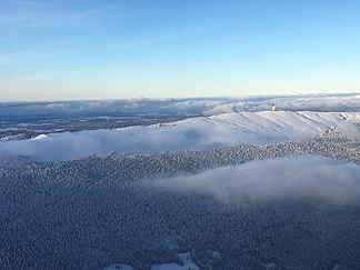 Luftaufnahme im Winter