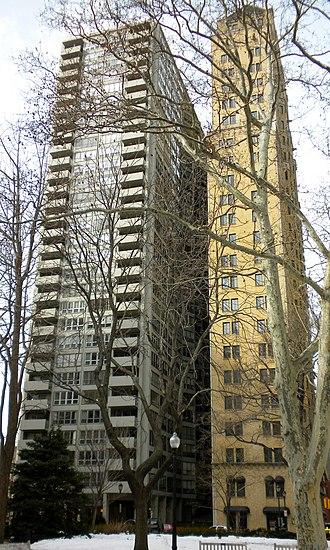 Chateau Crillon Apartment House - The Chateau Crillon Apartment House is the building on the right.