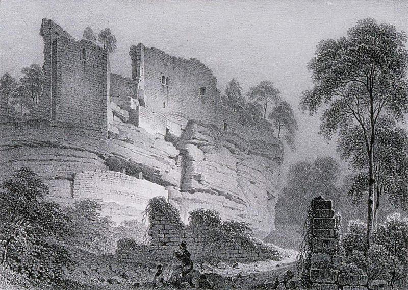 Burg Schöneck bei Dambach (Elsass) - Château du Schœneck