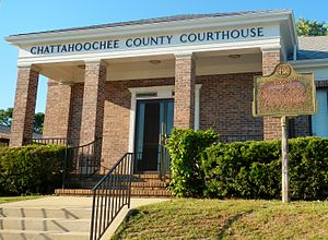 Chattahoochee County Courthouse in Cusseta