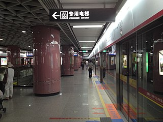Chebeinan station Guangzhou Metro interchange station