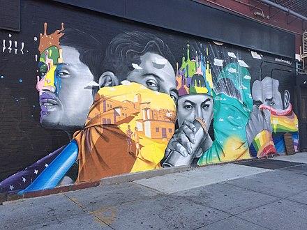 2017年9月15日、ニューヨーク市マンハッタンのストリートアート
