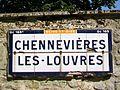 Chennevières-lès-Louvres (95), plaque Michelin de 1932, rue de Louvres.jpg