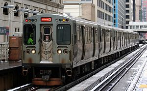 Chicago Transit Authority Orange Line Train on the loop.jpg