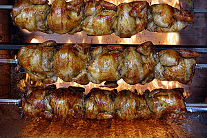 Rotisserie chicken - Image: Chickenbackground