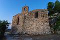 Chiesa medievale di San Lorenzo - abside, all alba.jpg