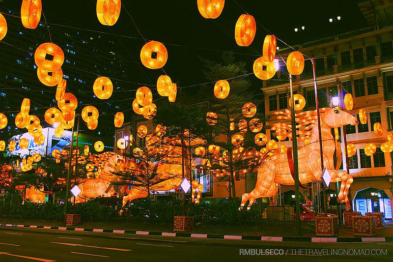 File:Chinese New Year decorations along New Bridge Road, Singapore - 20140214.jpg