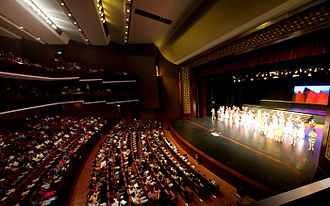 Theatre of Sri Lanka - An audience watches a performance at the Nelum Pokuna Mahinda Rajapaksa Theatre