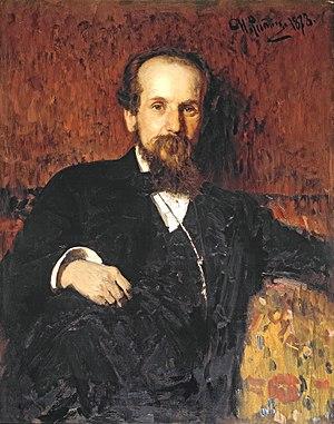 Pavel Chistyakov - Pavel Chistyakov;  portrait by Ilya Repin (1878)