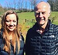 Chloe Burles and Sir Ranulph Fiennes filming for BBC News.jpg