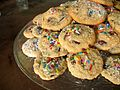 Chocolate chip cookies with sprinkles, 2007.jpg