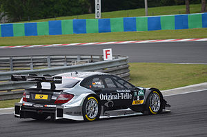 Christian Vietoris - Vietoris driving for the HWA Team at Hungaroring during the 2014 DTM season