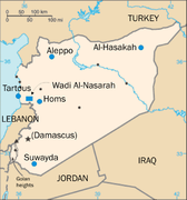 Places in Syria with significant Christian populations