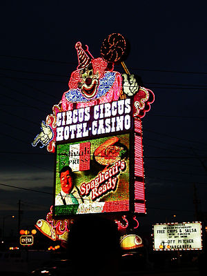 Young Electric Sign Company - The Circus Circus Las Vegas sign by YESCO.