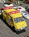City of London Cemetery and Crematorium ~ floral tribute - yellow van.jpg