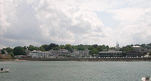 Plymouth Center, Massachusetts - Waterfront of Plymouth Center