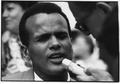 Civil Rights March on Washington, D.C. (Close-up view of Actor and Vocalist Harry Belafonte.) - NARA - 542075.tif