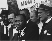 Photo of Martin Luther King at a Civil Rights March in Washington, D.C., courtesy of Wikipedia