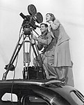 Clark Gable and Myrna Loy on set of Too Hot to Handle.jpg