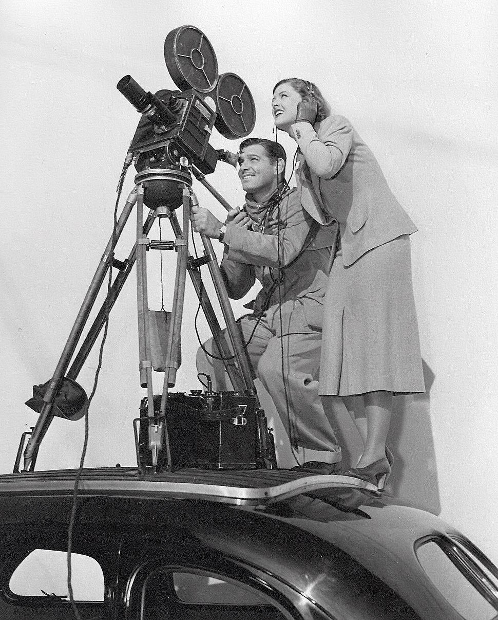 Clark Gable and Myrna Loy on set of Too Hot to Handle