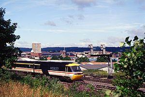 Ufton Nervet rail crash - 43019, the locomotive leading the derailed HST, pictured in 1993