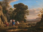 Claude Lorrain (1600 - 1682), The Judgment of Paris, 1645-1646, oil on canvas. National Gallery of Art, Washingto