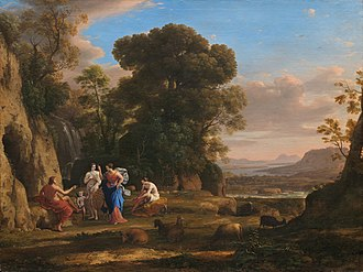 1646 in art - Image: Claude Lorrain (1600 1682), The Judgment of Paris, 1645 1646, oil on canvas. National Gallery of Art, Washingto