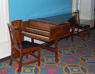 Kirkman (harpsichord makers) - Kirkman harpsichord in Williamsburg