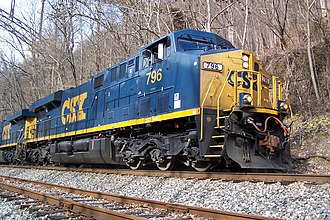 CSX Transportation - A new CSX ES44AC in the YN3 paint scheme.
