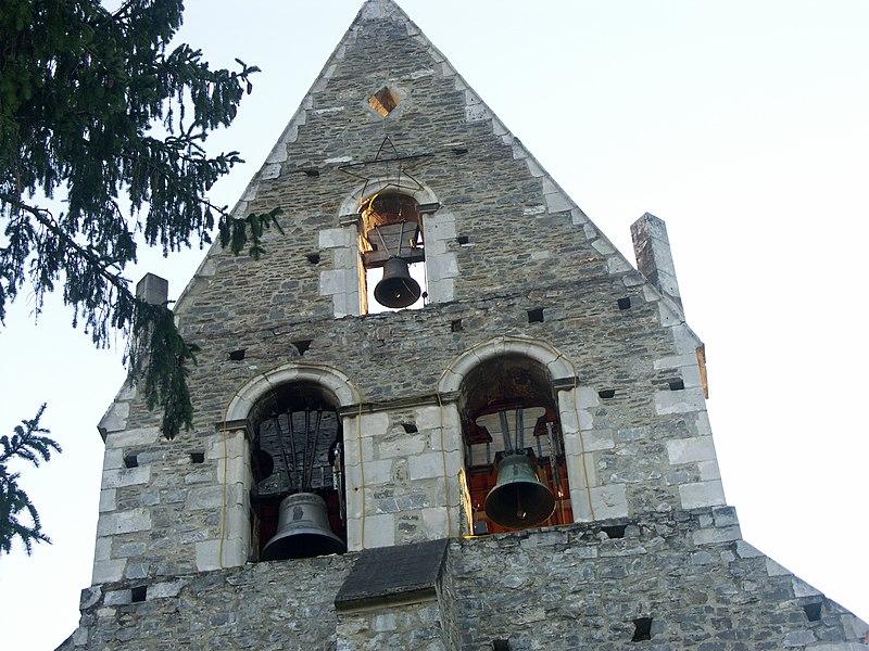 Clocher-pignon de l'église Saint-Sébastien à Ganties (Haute-Garonne)