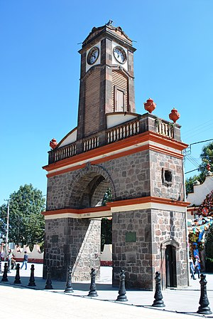 Calimaya - Clock tower built for Mexico's Centennial in 1910