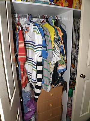 Picture of inside a closet. Taken 2009 by Matt...