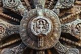 Closeup of the center of a stone wheel - Konark Sun Temple, Orissa, India.jpg
