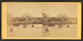 Coaches, horseback rider and people on the beach and houses in the distance, from Robert N. Dennis collection of stereoscopic views 3.png