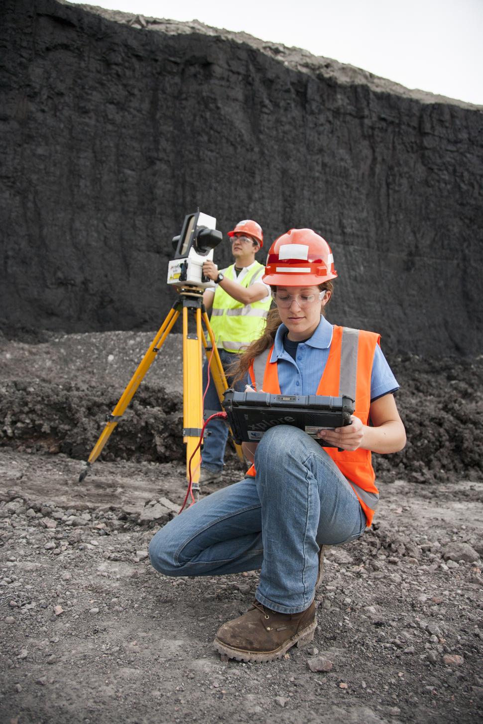 Coal Miner Laser Profiling