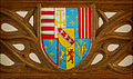 Coat of Arms from the Queen's Chair in the Great Hall, Stirling Castle (7319203812).jpg