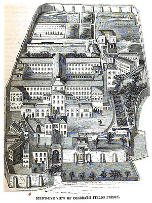 Coldbath Fields Prison - Image: Coldbath fields prison view mayhew p 335