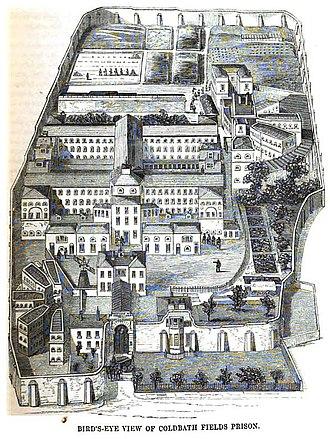 Coldbath Fields Prison - Image: Coldbath fields prison view mayhew p 335