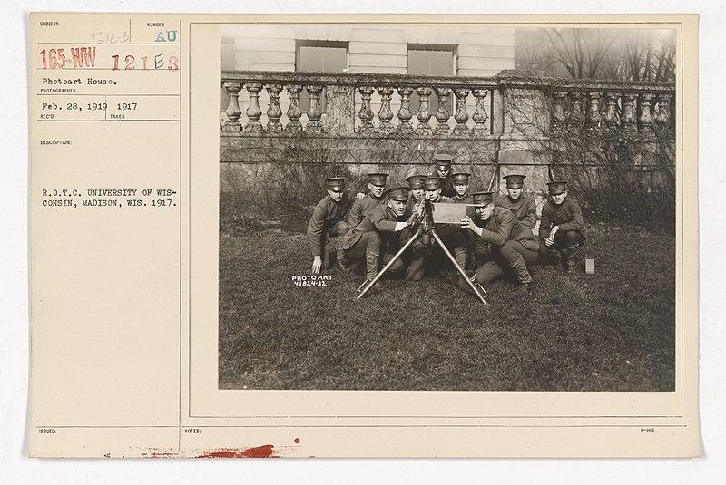 File:College and Universities - University of Wisconsin - R.O.T.C. University of Wisconsin, Madison, Wisconsin. 1917 - NARA - 26429957.jpg