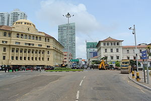 Roundabout - Roundabout in the centre of Colombo, Sri Lanka