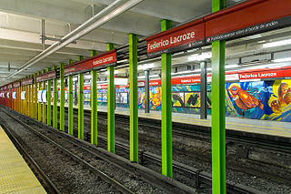 Federico Lacroze (Buenos Aires Underground) metro station in Buenos Aires